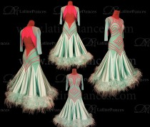 STANDARD/ SMOOTH/ BALLROOM DRESS WITH HIGH QUALITY ST357