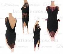 LATINO DANCE DRESS COMPETITION WITH HIGH QUALITY STONE M672