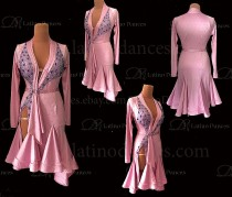 LATIN RHYTHM DRESS WITH HIGH-QUALITY STONES M666