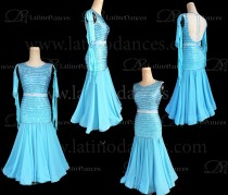 STANDARD/ SMOOTH/ BALLROOM DRESS WITH HIGH QUALITY ST353