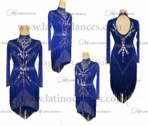 LATIN RHYTHM DRESS WITH HIGH-QUALITY STONES M668