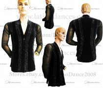 MEN'S LATIN VEST/COAT/ BODY. DB 164