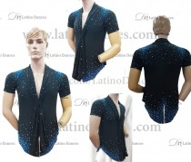 MEN'S LATIN SHIRT WITH HIGH QUALITY STONES DB213