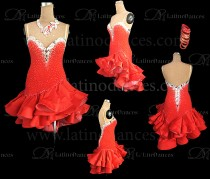 LATIN RHYTHM DRESS WITH HIGH-QUALITY STONES M652