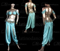 Dance costume - Latin - oriental - alibaba - belly dance J22