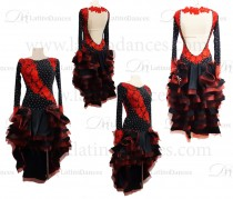 LATINO DANCE DRESS COMPETITION WITH HIGH QUALITY STONE M421B