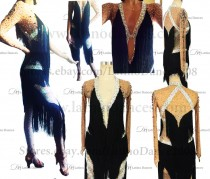 Latin  Dance Tailored Jumpsuit With High Quality stones M520
