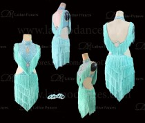 Latin  Dance Tailored Dress With High Quality stones M562