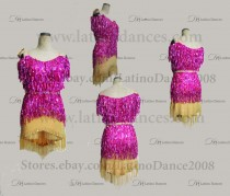 Latin  Dance Tailored Dress With High Quality stones M561