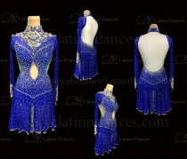 Latin  Dance Tailored Dress With High Quality stones M568