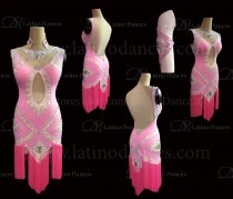 Latin  Dance Tailored Dress With High Quality stones M571