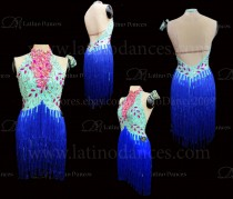 Latin  Dance Tailored Dress With High Quality stones M574
