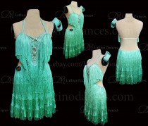 Latin  Dance Tailored Dress With High Quality stones M576