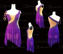 Latin  Dance Tailored Dress With High Quality stones M581