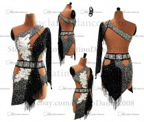 Latin  Dance Tailored Dress With High Quality stones M583