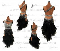 Latin  Dance Tailored Dress With High Quality stones M584