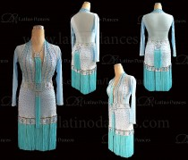 Latin  Dance Tailored Dress With High Quality stones M586