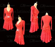 Latin  Dance Tailored Dress With High Quality stones M588