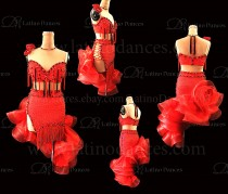 Latin  Dance Tailored Dress With High Quality stones M589