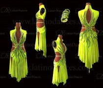 Latin  Dance Tailored Dress With High Quality stones M591