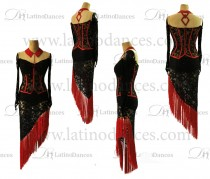Latino-dance-dress-competition-with-high-quality-stone-m496B