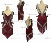 LATIN RHYTHM DRESS WITH HIGH-QUALITY STONES M670