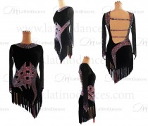 Latin Rhythm Dance Dresses With High Quality Stones M614