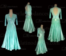 STANDARD / SMOOTH/ BALLROOM DRESS WITH HIGH QUALITY ST347