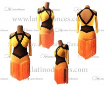 LATIN DANCE TAILORED DRESS WITH HIGH QUALITY STONES M660