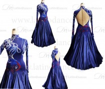 BALLROOM / SMOOTH DRESS WITH HIGH QUALITY STONES ST312