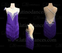 LATIN RHYTHM COMPETITION DRESS HIGH QUALITY STONES M470B