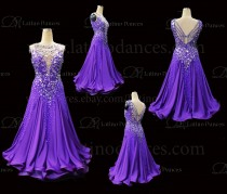 Ballroom Competition Smooth Dance Tailored Dress With High Quality stones ST289