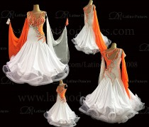 Ballroom Competition Smooth Dance Tailored Dress With High Quality stones ST250A