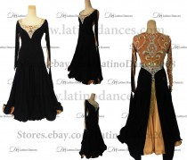 Ballroom Competition Smooth Dance Tailored Dress With High Quality stones ST257