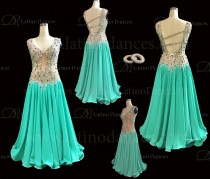 Ballroom Competition Smooth Dance Tailored Dress With High Quality stones ST259