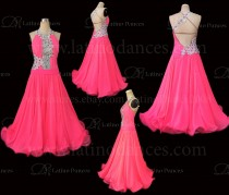 Ballroom Competition Smooth Dance Tailored Dress With High Quality stones ST261