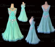 Ballroom Competition Smooth Dance Tailored Dress With High Quality stones ST263
