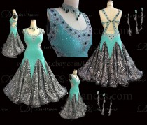 Ballroom Competition Smooth Dance Tailored Dress With High Quality stones ST264