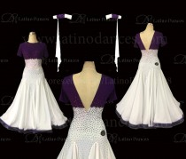 Ballroom Competition Smooth Dance Tailored Dress With High Quality stones ST265