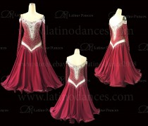 Ballroom Competition Smooth Dance Tailored Dress With High Quality stones ST266