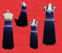 Ballroom Competition Smooth Dance Tailored Dress With High Quality stones ST268
