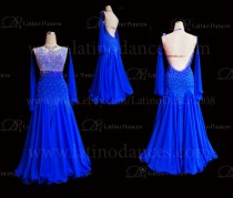 Ballroom Competition Smooth Dance Tailored Dress With High Quality stones ST278