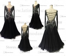Ballroom Competition Smooth Dance Tailored Dress With High Quality stones ST283