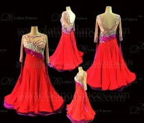 Ballroom Competition Smooth Dance Tailored Dress With High Quality stones ST290B