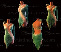LATIN DANCE TAILORED DRESS WITH HIGH QUALITY STONES M661