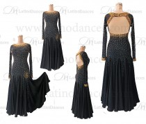 STANDARD/SMOOTH BALLROOM DRESS WITH HIGH QUALITY ST323