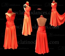LATIN DANCE TAILORED DRESS WITH HIGH QUALITY STONES M621