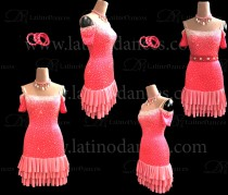 LATIN DANCE TAILORED DRESS WITH HIGH QUALITY STONES M608