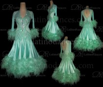 BALLROOM/ STANDARD/ SMOOTH/ OSTRICH FEATHER DRESS ST343