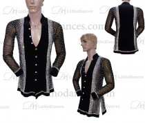 MEN'S LATIN SHIRT WITH HIGH QUALITY STONES DB217